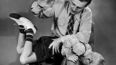 spanking a child